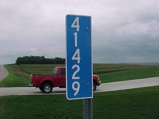 Plymouth County Address Marker